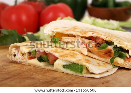 quesadilla closeup