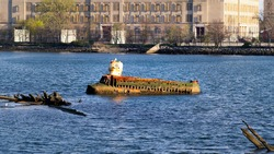 Quester I (Yellow Submarine) Wrecked in Coney Island Creek. Built in 1967 by Jerry Bianco.