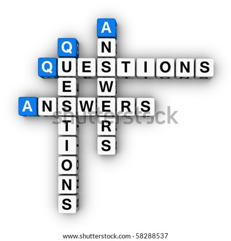 Question and Answers  (blue-white cubes crossword series)