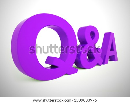 Question and answers concept icon to show help and advice. Online training and information on a helpline or hotline - 3d illustration