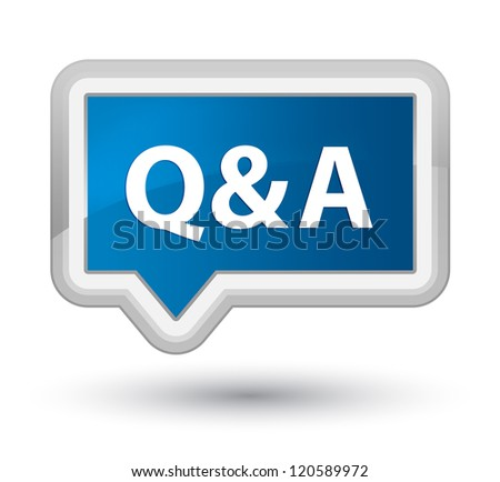 Question & Answer - stock photo
