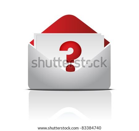 question envelope illustration design