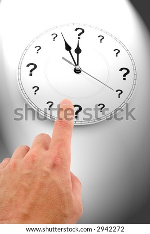 question mark clock, concept of time