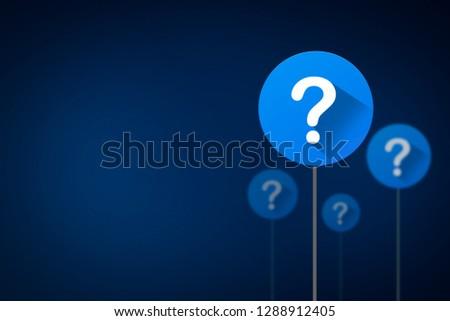 Question mark concept, 3D illustration