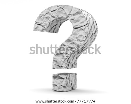 Question Mark from crumpled paper