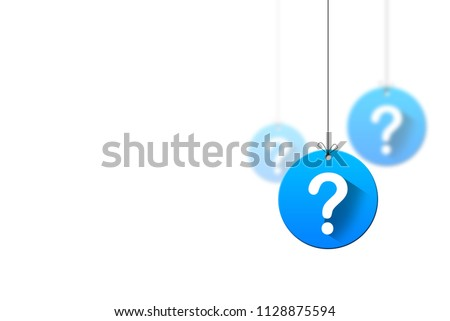 Question mark hanging concept