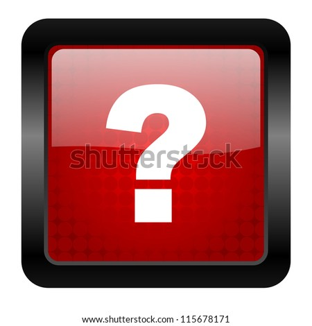 question mark icon - stock photo