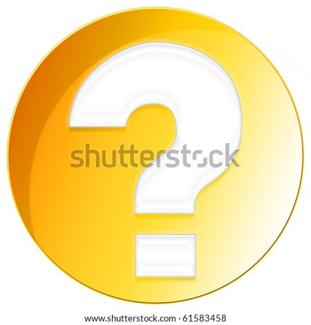 Question Mark Icon - orange color