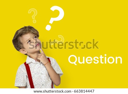 Question mark icon thinking of solution Stock photo ©