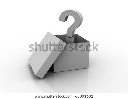 Question mark in a box