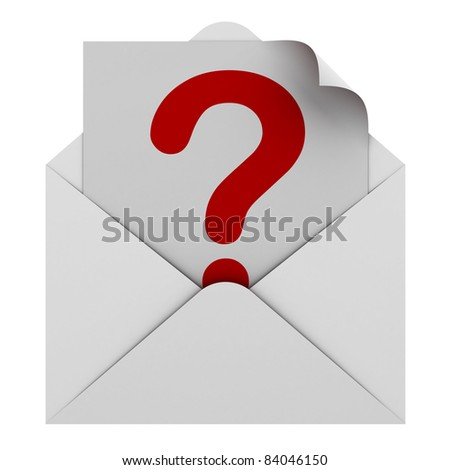 Question mark in envelope