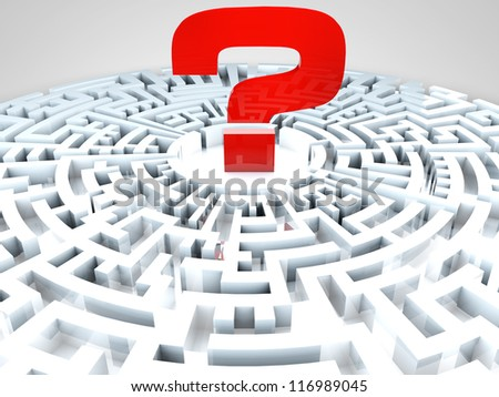 Question Mark in the middle of a maze
