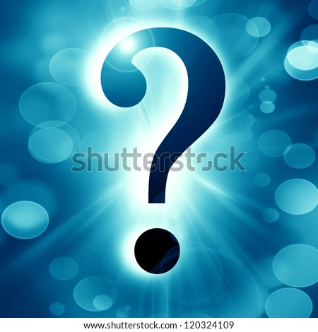 Question mark on a soft dark background