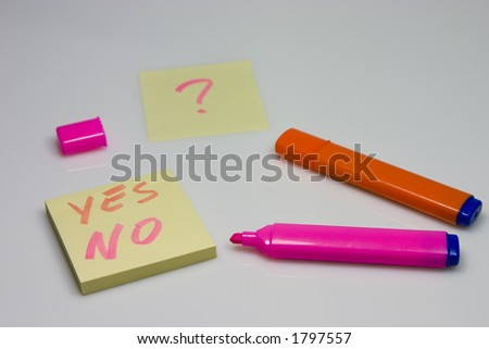 question mark post-it