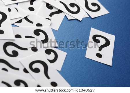 Question mark symbols - concept for confusion, question or solution