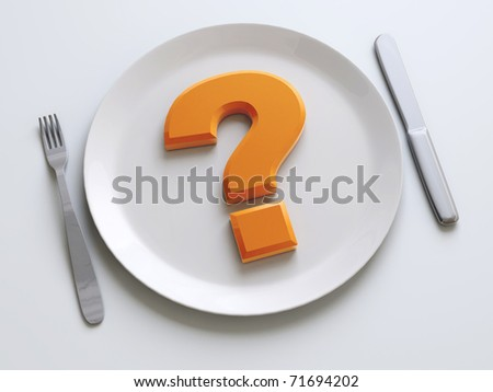 question on the plate