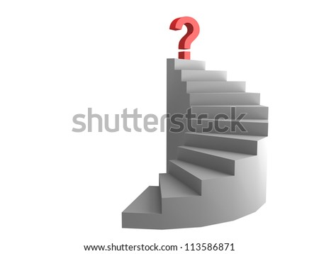 question on top of the ladder