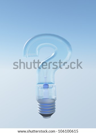 Question Shaped Light Bulb