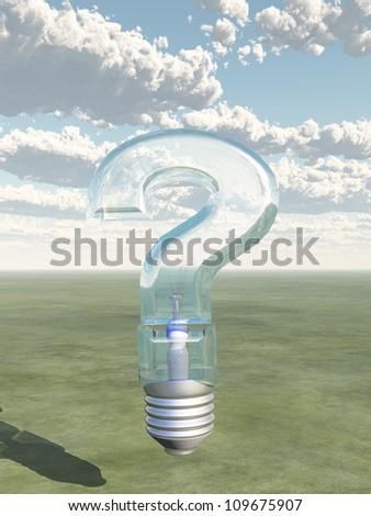 Question Shaped Light Bulb