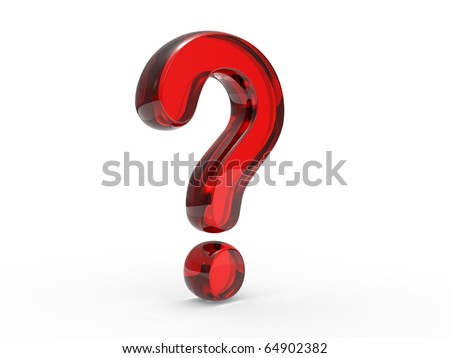 Question sign on a white background