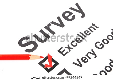 Questionnaire and pencil - stock photo