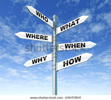 questions and answers signpost direction confusion sky pole sign