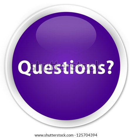 questions purple button stock photo