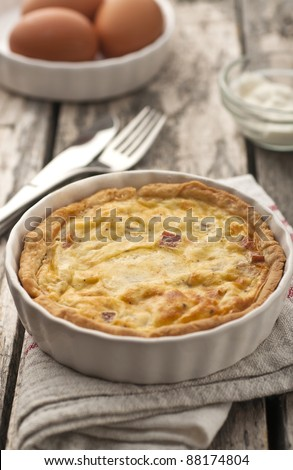 Quiche Lorraine - ready for eating