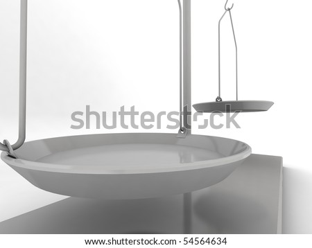 Quick balance isolated on white background. 3d render.