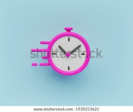 quick, fast, speed time icon. minimal style Business concept. 3d rendering