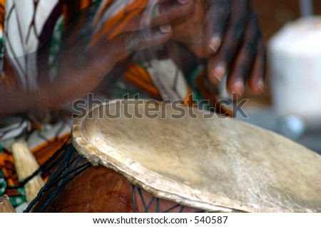 Quick hands - Drummer - stock photo