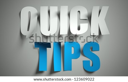 Quick tips cut from paper, background