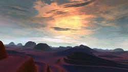 Quiet and peaceful desert landscape
