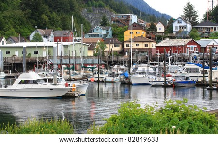 Quiet harbor in Ketchikan, Alaska