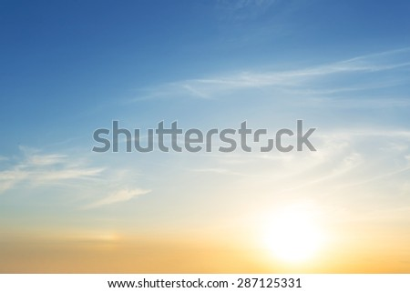 quiet sunset background #287125331