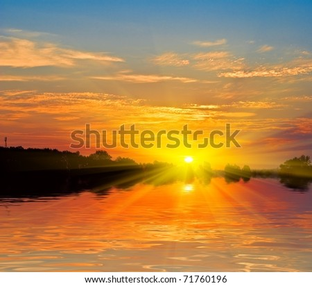 quiet sunset on a river