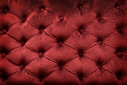 Quilted velvet burgundy fabric as a background