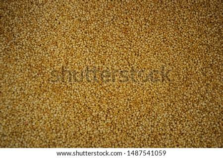 Quinoa stored in a bin in a store