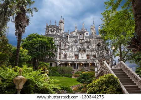 Quinta da Regaleira in Sintra, Portugal. In the palace and the park are hidden symbols related to alchemy, Masonry, the Knights Templar, and the Rosicrucians