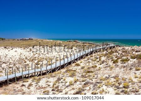 Quinta Do Lago beach, Portugal. - stock photo