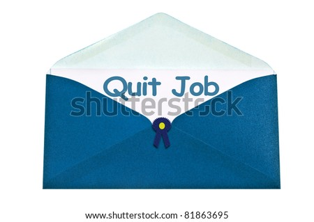 Quitting Job Quit Job Letter in Blue