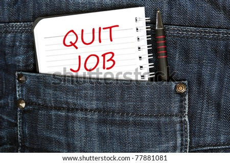 Quit job message on notepad