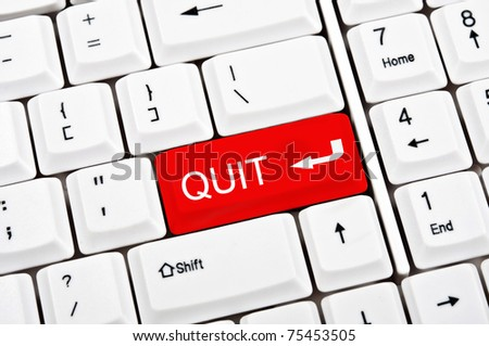 Quit key in place of enter key