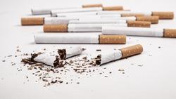 quit smoking concept,nicotine addiction stop smoking.