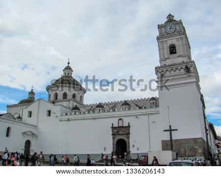 Quito Ecuador Dec 2010 Plaza De Santo Domingo In Old Town The
