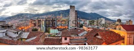Quito evening view, Ecuador.