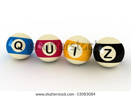 quiz and billiard balls