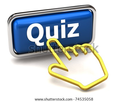 Quiz button and golden hand cursor