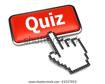 Quiz button and hand cursor