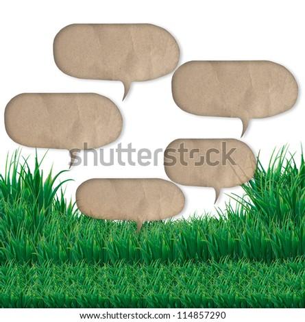 quote bubble over green grass field